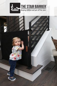 Toddler Gate For Stairs, Safety Gates For Stairs, Hale House, Stair Gate, Pet Gate, Back Patio, Baby Safety, Outdoor Spaces, Baby Kids