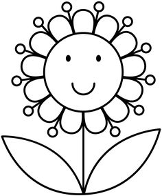 Flower Coloring Pages Preschool Inspirational Flower My Digital Stamps Cross Coloring Page, Spring Coloring Pages, Easy Coloring Pages, Flower Coloring Pages, Printable Coloring Pages, Coloring Sheets, Coloring Pages For Kids, Coloring Books, Summer Crafts For Toddlers