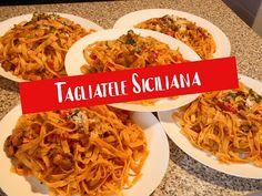Tagliatele(paste) Siciliana.Gateste Catalin. - YouTube