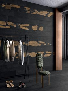 Kasai Ceramiche Refin Porcelain stoneware tiles that like wood, inspired by the traditional Japanese artisanal technique that works through burning wood. Japanese Bathroom, Wood Effect Tiles, Black Tiles, Ceramic Techniques, Diy Bathroom Decor, Small Bathroom, Bathrooms, Japanese Design, Japanese Style