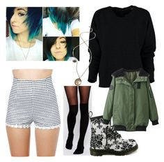 """""""OC Luca Miller #2"""" by laurenwolfchild ❤ liked on Polyvore featuring WithChic, ASOS and Dr. Martens"""