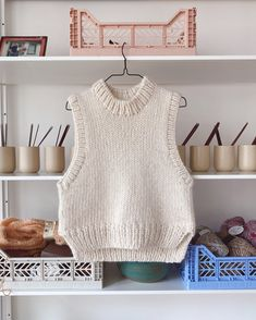 Big Yarn, Knit Vest Pattern, Mohair Yarn, Stockinette, Knit Fashion, Crochet Clothes, Crochet Outfits, Crochet Projects, Knitting Projects