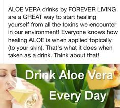 Drinking Forever Aloe Gel  Check out my page to order www.ourbodyforever.com