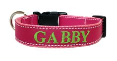 Girl Dog Collar  Pink Personalized  Dog by TheMonogrammedMutt, $28.00