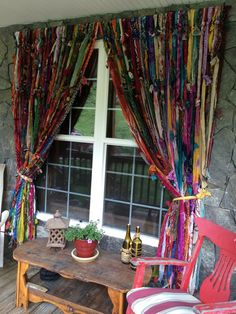 Bohemian Diy Boho Curtains - American Hippie Boheme Boho Lifestyle Diy Curtains Hippie ॐ American Hippie Diy Crafts Use Old Scarves To Make A Boho Rag Curtains Old Sheets Tableclo. Rag Curtains, Hippie Curtains, Hippie Bedding, Beaded Curtains, Window Curtains, Patterned Curtains, Purple Curtains, Burlap Curtains, Nursery Curtains