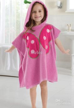 Cute Butterfly Face Pink Hooded Bath Beach Towel, Animal Design Bathrobe for Kids - Girls Fashion Clothes, Kids Fashion, Fashion Outfits, Girls Sleepwear, Baby Dress Patterns, Cute Butterfly, Baby Warmer, Cute Outfits For Kids, Summer Baby