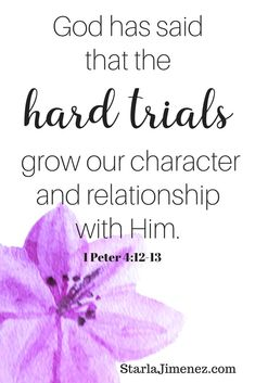 Bible Verses to Live By:God is with us in hard trials. Have you ever asked, Where is God when it hurts? Bible Verses For Women, Bible Verses About Love, Biblical Quotes, Bible Verses Quotes, Faith Quotes, Spiritual Quotes, Heart Quotes, Bible Encouragement, Christian Encouragement