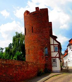Luebeck - House inside a city tower