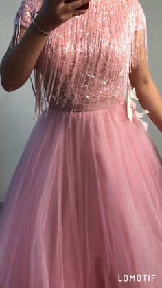 A-Line High Neck Beaded Pink Tulle Long Prom Dress Pink Tulle High Neck Beaded A-line Long Evening Dress,Formal Gowns. Dress Neck Designs, Stylish Dress Designs, Designs For Dresses, Stylish Dresses, Casual Dresses, Indian Gowns Dresses, Indian Fashion Dresses, Bridal Dresses, Prom Dresses