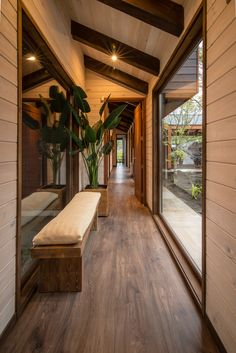 Stunning use of wood in this build // I love that the garden outside is also given importance through floor to ceiling windows. ~ ED House, Araucania, Chile by Eduardo Guzmán Rivera + Juan Carlos Muñoz Del Sante Photography - Cristian Muñoz Del Sante ~ 📷 Home Interior Design, Exterior Design, Interior Design Photography, Floor To Ceiling Windows, Floor Lamps, House Goals, Home Deco, My Dream Home, Future House
