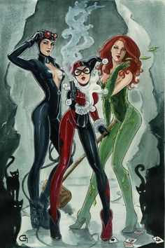pose ideas - Gothams City Sirens, I always liked these 3. They look so good together :) love them.