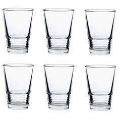 $3.99 for 6-pack;  VÄNLIG Glass - 11 oz - IKEA