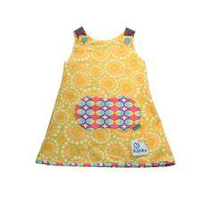 Fruity Scoops Dress Reversible. Sustainable fashion!! Premium Cotton by Kañika...exclusive and different fashion kids... Falda globo con algodón de primera calidad, por Kañika...moda de niños exclusiva y diferente! www.kanika.es