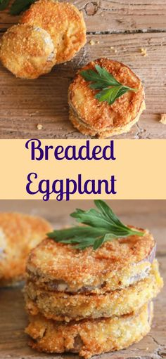 Breaded Eggplant, a super easy and so delicious side dish or appetizer, sliced eggplant lightly fried in a yummy Parmesan breadcrumb mix.|anitalianinmykitchen.com