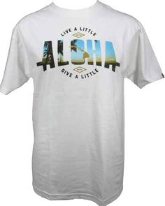 "Local Motion, Hawaiian Style  ""Live a Little, Give a Little Aloha"" Mens Regular Fit 100% Cotton"