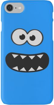 http://ift.tt/2dfBMk5 Funny Cookie Monster (Smiley Comic) Face (blue background)) @redbubble Follow us on Facebook http://ift.tt/1ZBR6Ym
