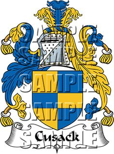 Cusack Family Crest apparel, Cusack Coat of Arms gifts