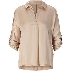 Blouse ❤ liked on Polyvore (see more v neck blouses)