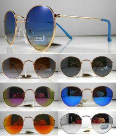Occhiali da sole tondi in metallo lenti colorate uomo donna vintage retr cod rb 10,43 Eur  http://www.marketitaliano.it/?df=281277437636