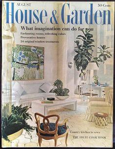 August 1960 House Garden Magazine Fruit Cookbook Country Kitchen