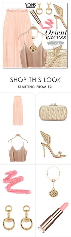 """""""Untitled #3329"""" by snickres ❤ liked on Polyvore featuring Nicole, Christian Louboutin, Lanvin, Gucci, yoins and yoinscollection"""