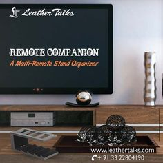 Take a look into this fine leather stand that stacks remotes beautifully in front of one another.Available in Six different colours only at Leather talks. #storesupto4remotes  http://leathertalks.com/product/remote-companion/