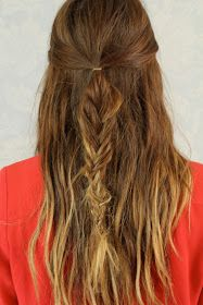 Alex Crabtree - Hair + Make-up Blog: HOW TO: Half Up/Fish Tail Braid Tutorial