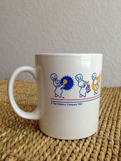 Vintage Pillsbury Dough Boy Ceramic Advertising Mug
