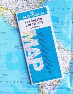 LOS ANGELES and VICINITY Map  Rand McNally circa by BunnysLuck, $3.99