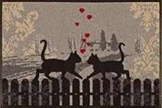 Felpudo gatos enamorados
