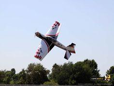 "Aerobee 65"" YAK-54 20cc Gas Extreme 3D Profile ARF RC Airplane Red/White: Knife edge"