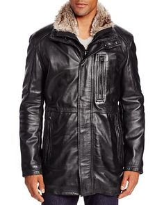 381Marc New York Stuyvesant Leather Field Jacket | Bloomingdale's