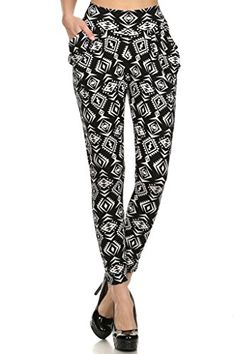 WHITE APPAREL Women's Printed Harem Pants With Side Pockets (Various Styles) ** Details can be found by clicking on the image. Harem Pants, Pajama Pants, Women's Pants, Pantsuits For Women, Pants Pattern, Latest Fashion Trends, Casual Pants, Night Out, Pants For Women