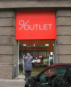 Outlet Store Logotype by Igor Manasteriotti, via Behance