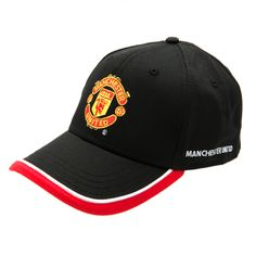 1f9500a08 MANCHESTER UNITED Black and Red Embroidered Cap. One size only. Official  Licensed Manchester United