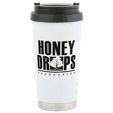 Stainless Steel Travel Mug Honey Drops, Stainless Steel Travel Mug, Beekeeping, Mugs, Tableware, Dinnerware, Tumblers, Tablewares, Mug