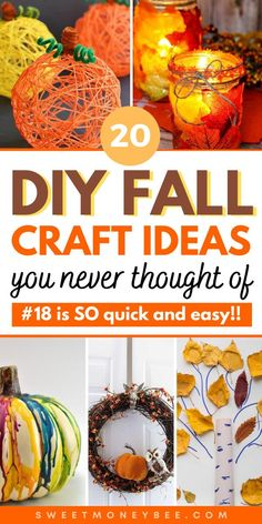 DIY Fall Crafts For Kids and Adults