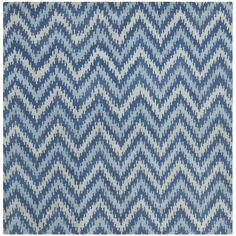 Safavieh Handmade Wyndham Blue New Zealand Wool Rug (7 Square) | Overstock.com