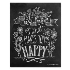 Do More of What Makes You Happy - Print by Lily and Val