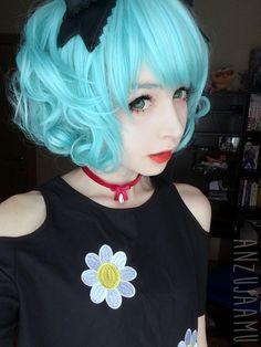 Kawaii Cosplay, Cute Cosplay, Cosplay Girls, Cosplay Style, Mint Hair Color, Hair Color Streaks, Cute Asian Girls, Cute Girls, Cosplay Characters