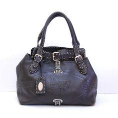 c6ab342a7a37 Fendi Grand Borghese Handbag Tote Brown Selleria Leather Shoulder Bag 75%  off retail