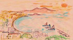 Watercolor: Harbor mooring