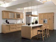 Cucine Stosa - Cucina Contemporanea Beverly in legno chiaro