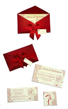 Red Wedding Invitation-like, but minus the little kid images.
