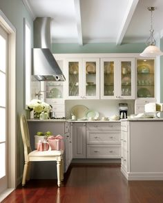 The natural beauty of coastal Maine is celebrated in this nod to Martha's 1920s summer home. Discover All of the Martha Stewart Living Kitchens on HomeDepot.com