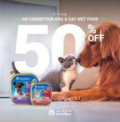 PET FOOD advertising forCarrefour retail hypermarkets on Behance Food Advertising, Advertising Design, Web Design, Poster Layout, Pet Food, Marketing, Social Media Design, Dog Toys, Dog Cat
