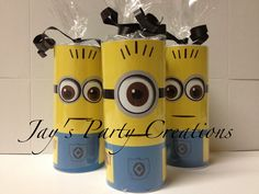 Despicable me minion candy rolls  Makes an adorable party favor for your despicable me themed party Contact jayspartycreations@hotmail.com for purchasing and pricing info