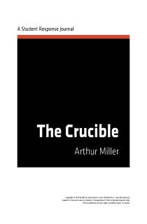 reader response on the crucible The crucible - multiple critical perspectives [arthur miller] of literature beyond the tired plot pyramid and want their students to experience the books they love more than reader-response alone will let them.