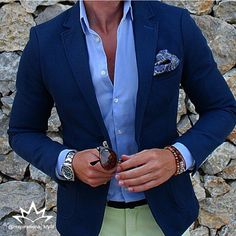 Great summer style inspiration by our friend @keymanstyle