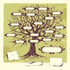 Family tree illustration hand drawn new ideas Family Tree Drawing, Family Tree Mural, Free Family Tree, Family Trees, Family Tree Diagram, Family Vector, Tree Templates, Printable Templates, Tree Illustration